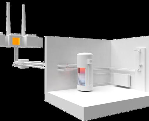 Fernwärmeübergabestation und Hausanschluss