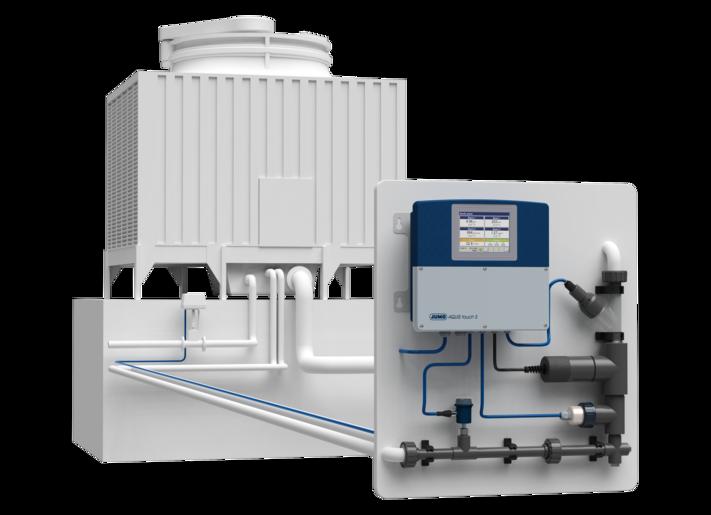 Kühlturmsteuerung und -registrierung