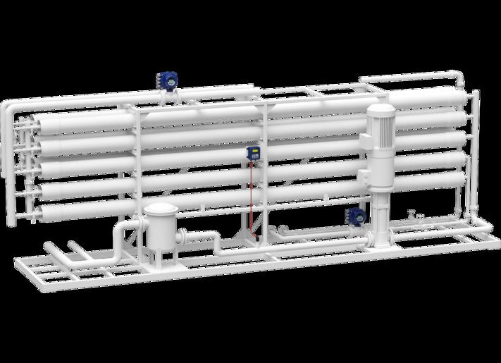 Pressure measurement in the filtration plant