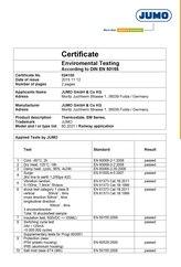Certificate Environmental Testing for Railway Applications