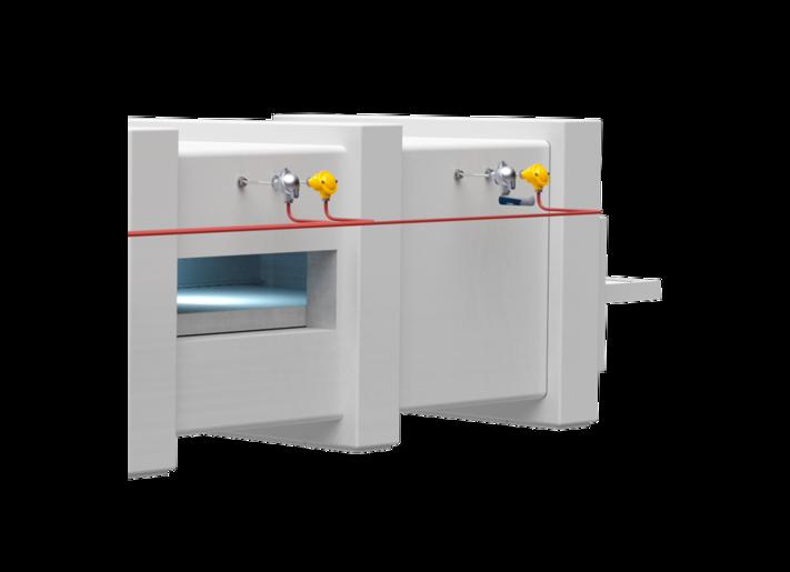 Temperature measurement in continuous furnaces